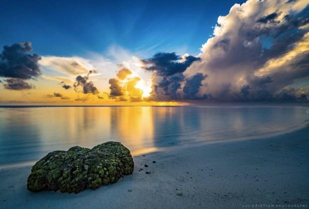 Sunrise over Hulhumalé, Maldives