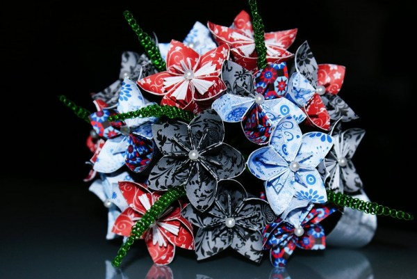 Origami flower bouquet craft