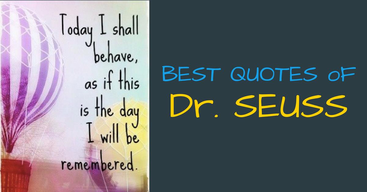 Best Quotes of Dr. Seuss