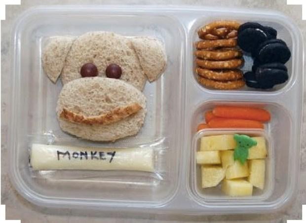 Letter M (Monkey) lunch idea