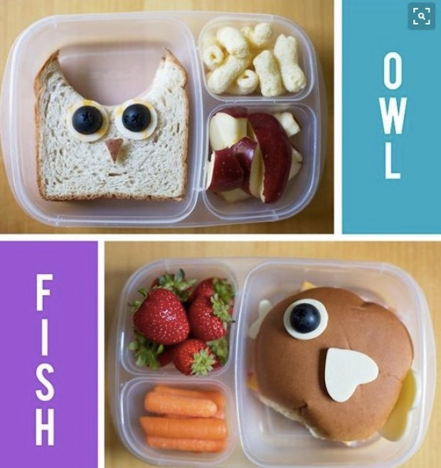 Owl and Fish Lunch idea