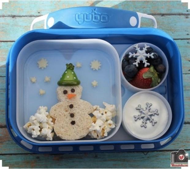 Snowman lunch box idea