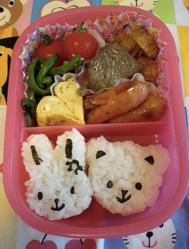 bunny and bear for the lunch box