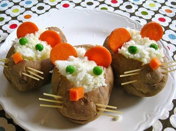 mice potatoes