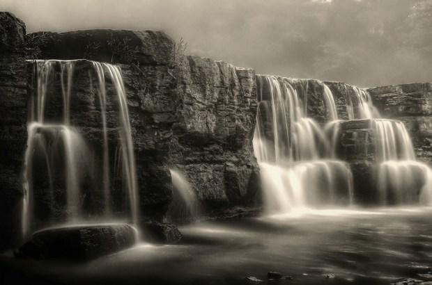 Natural Dam black and white