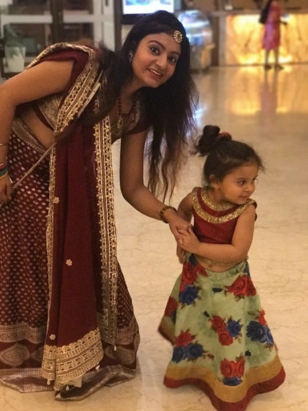 Mother Daughter in Indian wedding outfits