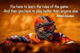 You have to learn the rules of the game. And then you have to play better than anyone else. Albert Einstein