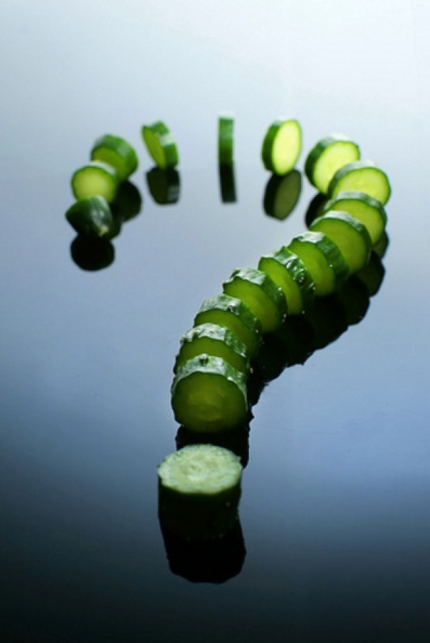 The Cucumber Question Mark