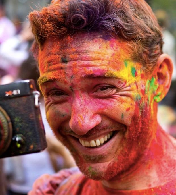 Holi festival face
