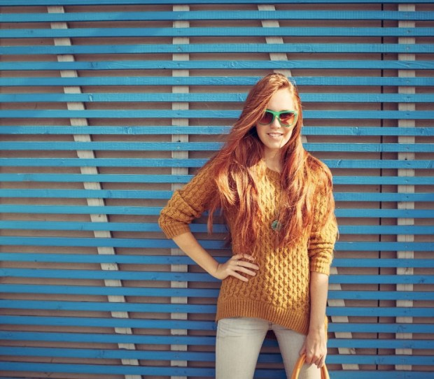 Beautiful young red-haired girl