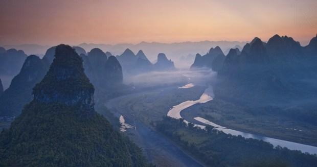 's eye-view of Li River