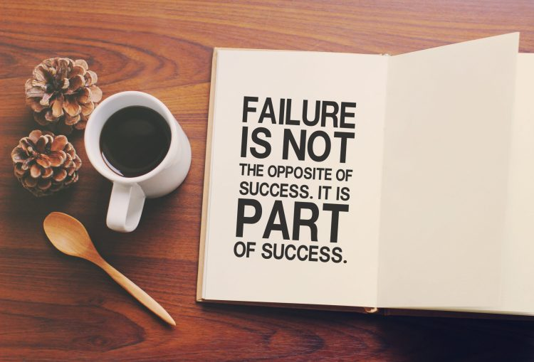Failure is not the opposite of success. It is part of success