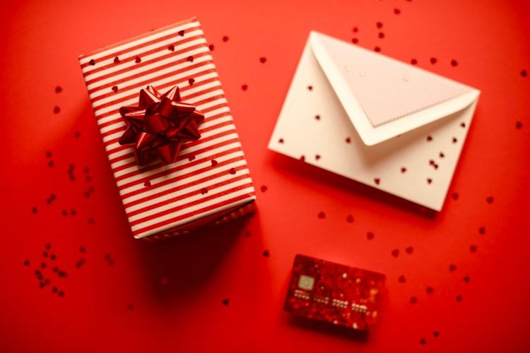 Valentines present credit card