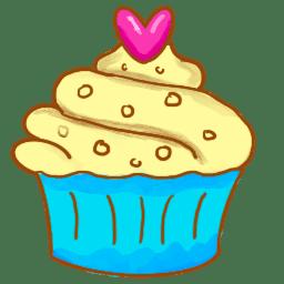 Cupcake icon transparent background