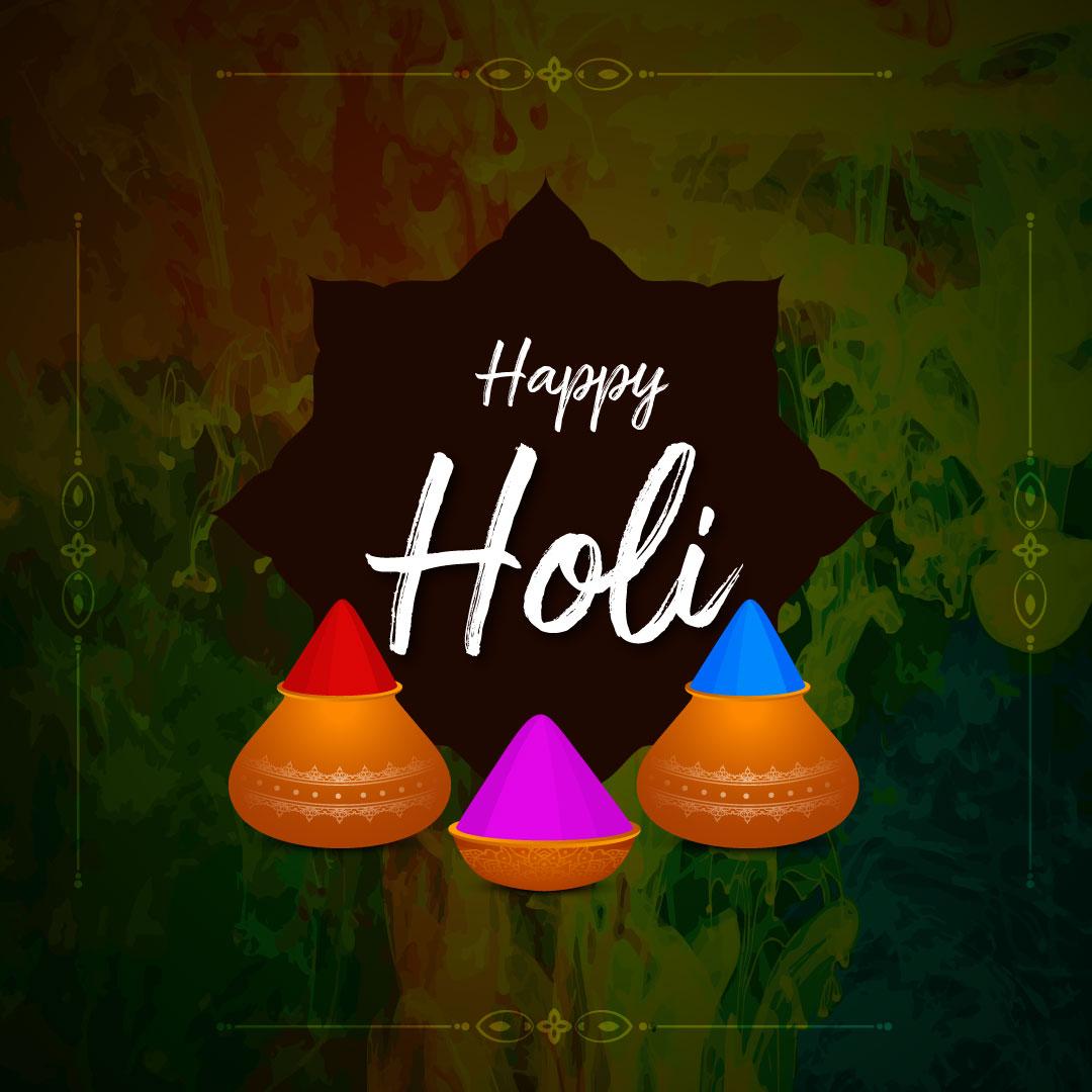 Bright colors of Holi – Happy Holi