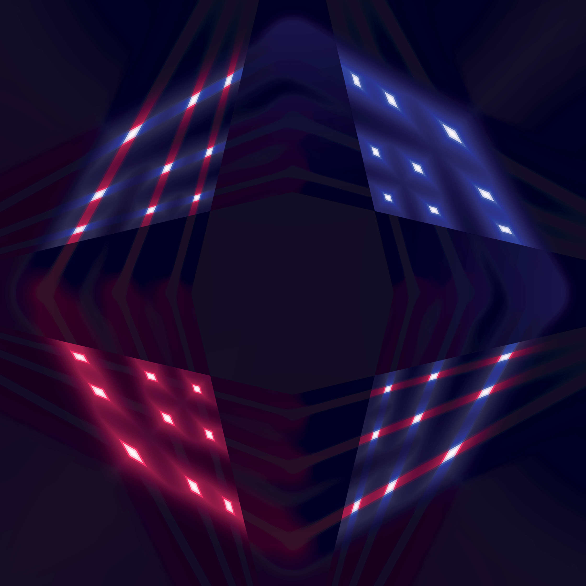 Led red and blue checker background 2448 x 2448