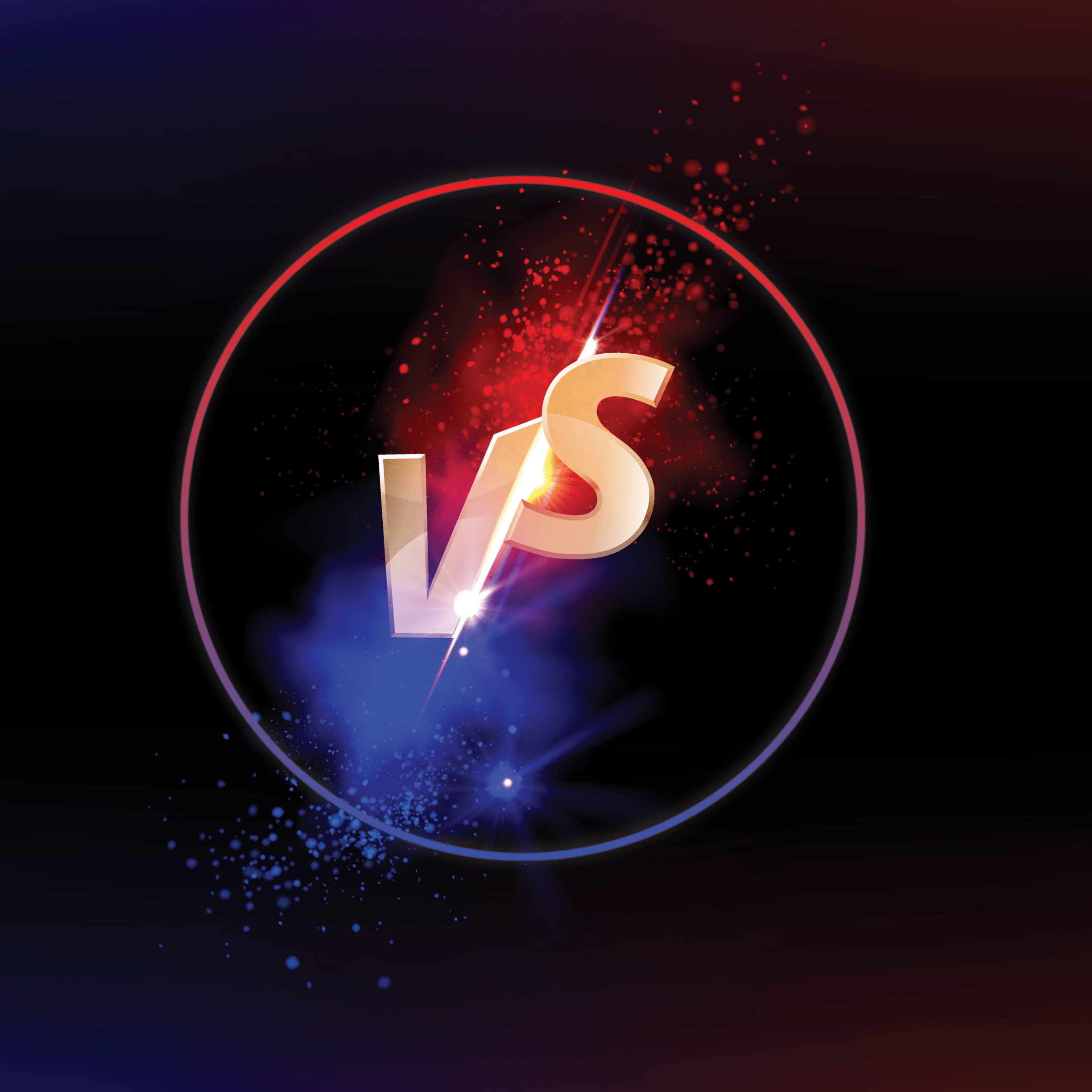 Versus logo for competition with dark background 2448 x 2448