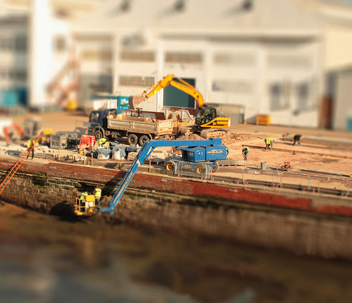 Real world in miniature: Construction site
