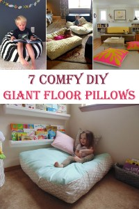 7 Comfy DIY Giant Floor Pillows