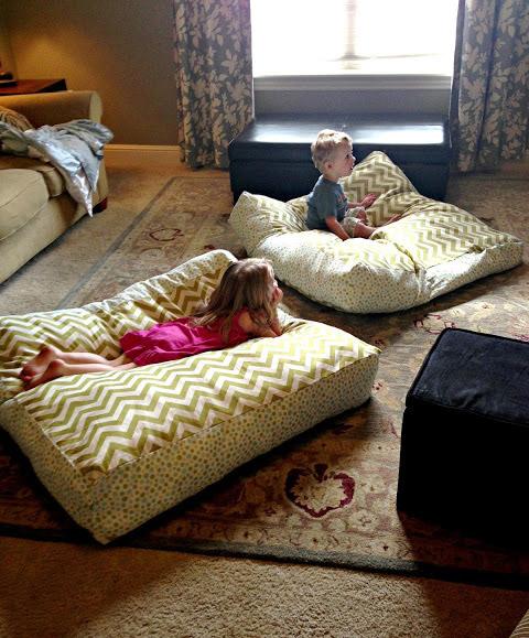 7 Comfy DIY Giant Floor Pillows