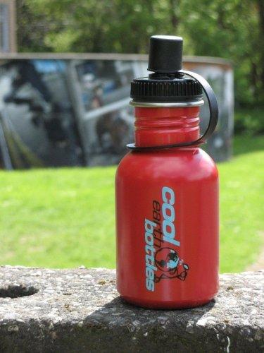 Red 350ml Steel water bottle