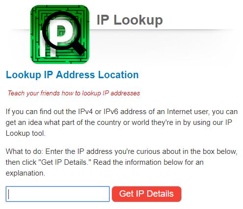 Find The Location Of An Ip Address And Where It Comes From