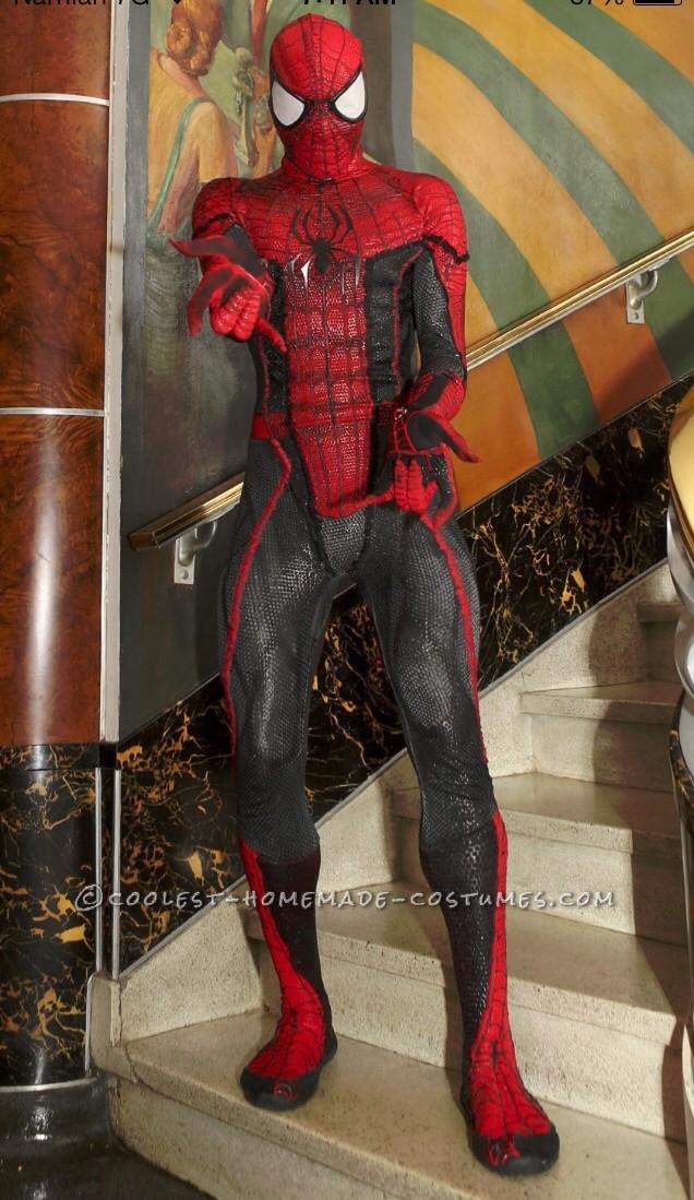Homemade Spiderman Costume : homemade, spiderman, costume, Movie, Quality, Spiderman, Costume