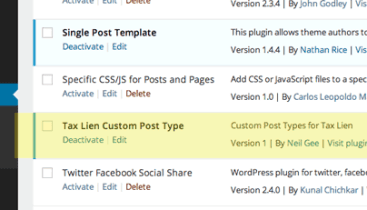 Create and add in Custom Taxonomy Terms to WordPress Posts