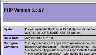 Install Apache, MySQL, PHP & phpMyAdmin on macOS Mojave 10 14