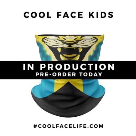 Kids Size – Bahamas Flag Face Bandana