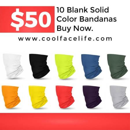 blank solid color bandanas