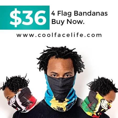 Buy 4 Flag Bandanas for $36