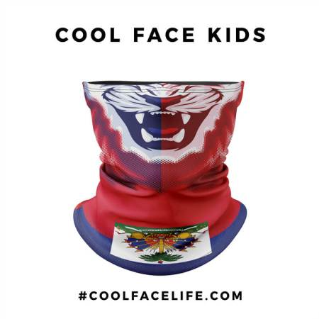 Kid Size - Haitian Flag Face Bandana