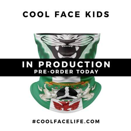Kids Size – Nigeria Flag Face Bandana