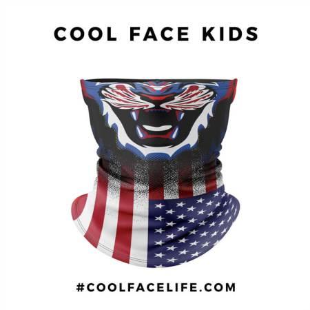 Kid Size – USA Flag Face Bandana