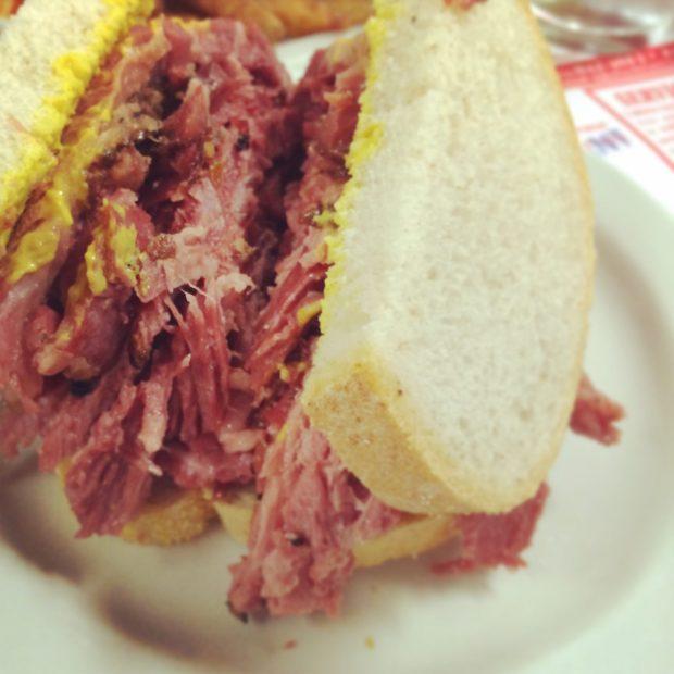 Schwartz's Deli Smoked Meat Sandwich