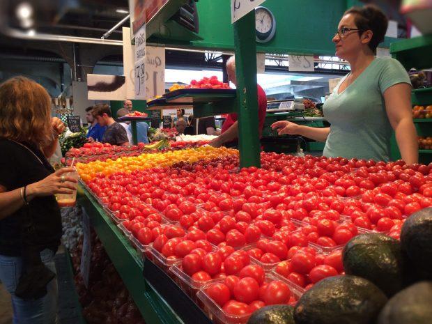 Jean Talon Market Montreal tomatoes