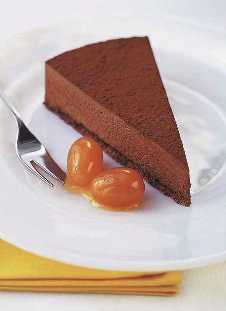 Chocolate Truffle Cake with Candied Kumquats
