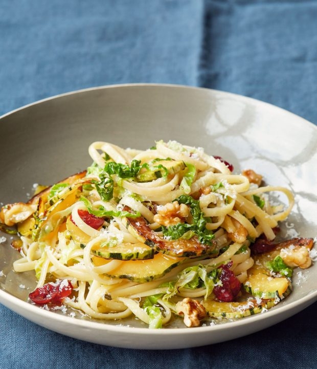 Pasta with Cabbage, Winter Squash and Walnuts, Dorie Greenspan