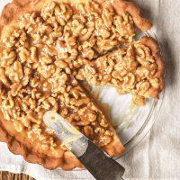 Salted Caramel Walnut Tart
