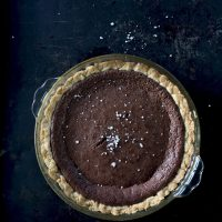 Chocolate Fudge and Sea Salt Pie