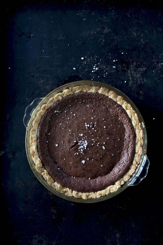 Chocolate Fudge and Sea Salt Pie, Southern Smoke: Barbecue, Traditions, and Treasured Recipes Reimagined for Today, Photography by Felicia Perry Trujillo