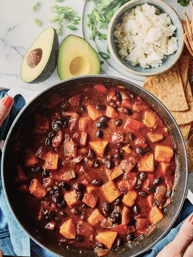 Chipotle-sweet potato chili