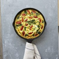 Roasted Tomato and Chickpea Frittata