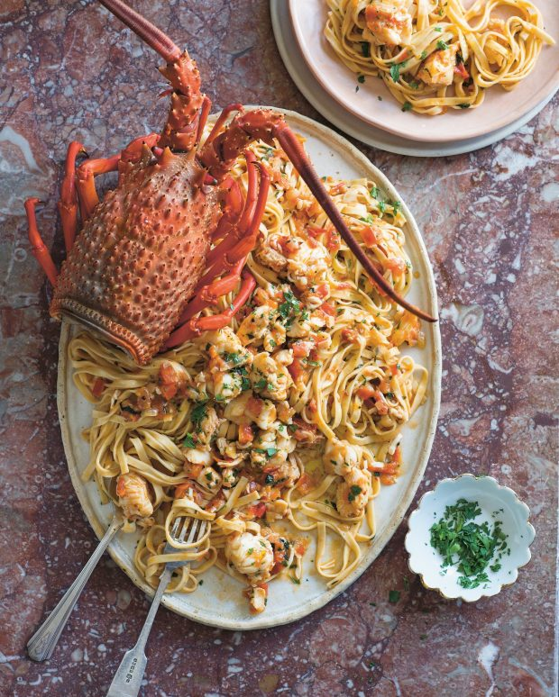 Spicy Lobster Linguini