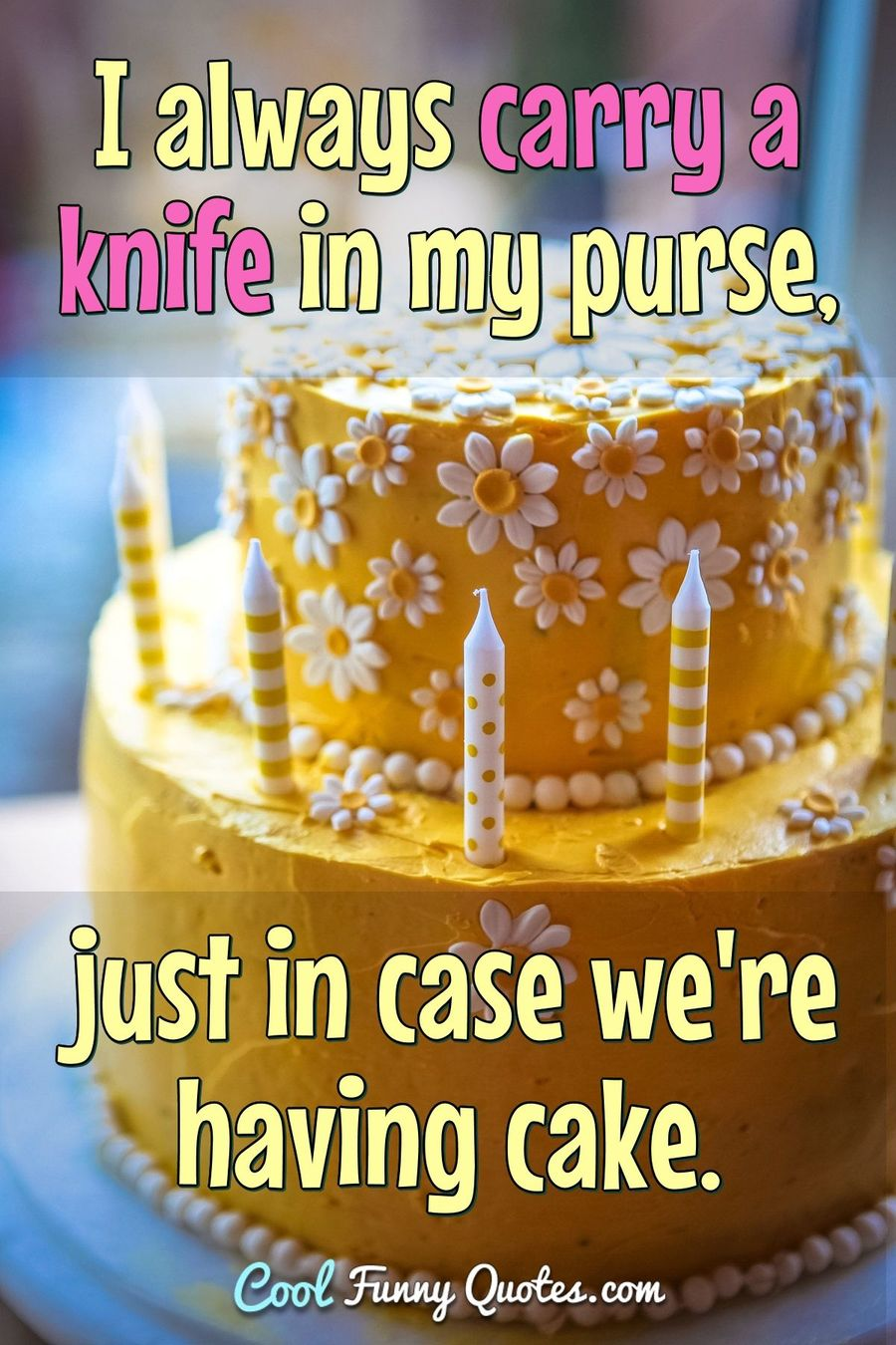 Quotes About Cake : quotes, about, Always, Carry, Knife, Purse,, We're, Having, Cake.