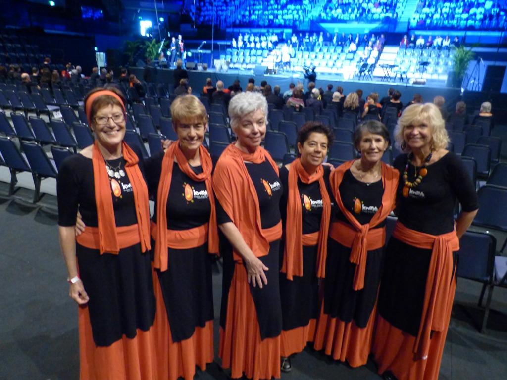 Choir Members Raised Their Voices In Massed Choir  Cool