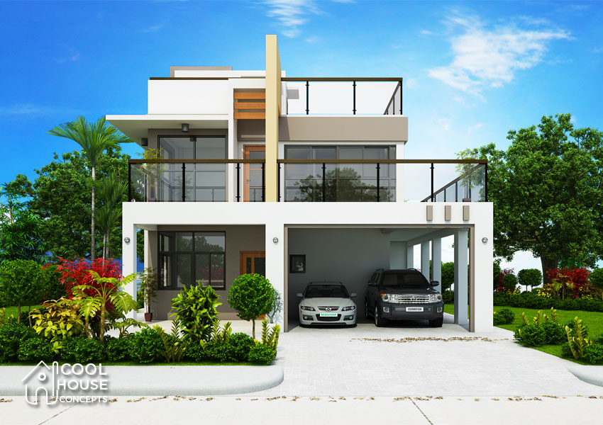 Modern Contemporary House Design with 4 Bedrooms  Cool