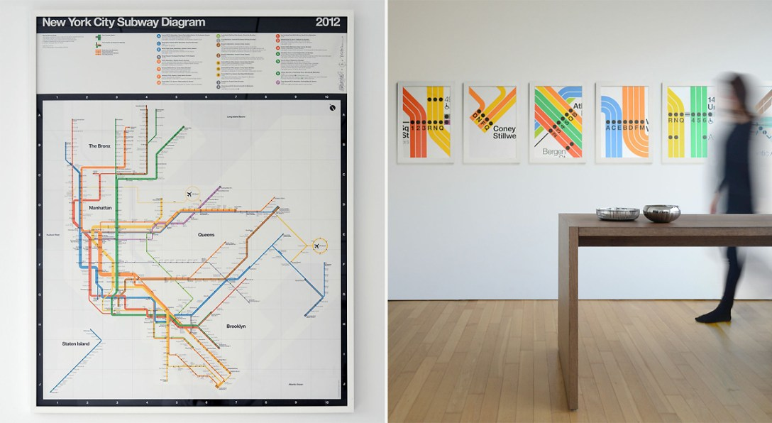 New York City Subway Map Poster.Massimo Vignelli S Signed 2012 Nyc Subway Diagram Cool Hunting