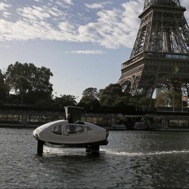 SeaBubbles' Flying Water Taxis Open For Public Trials in Paris